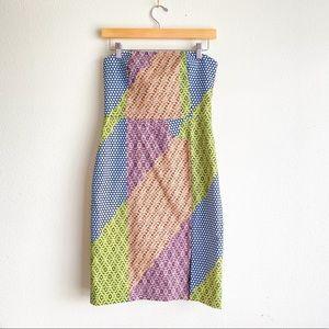 Kate Spade Strapless Geometric Print Dress 4